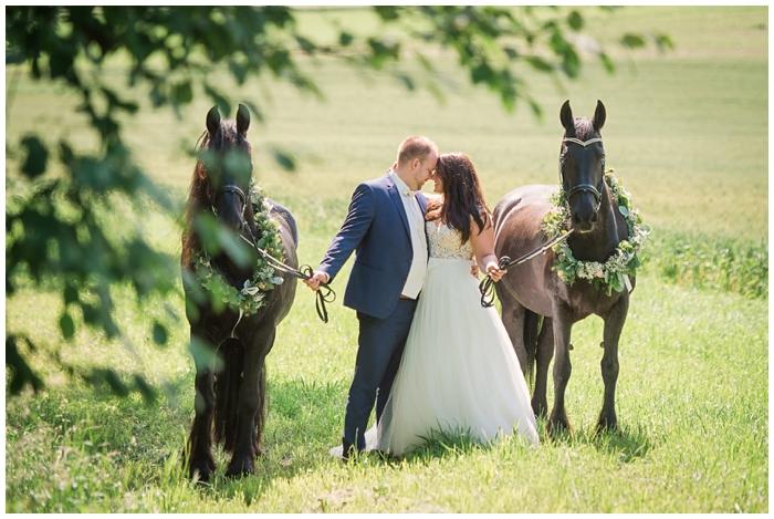 Brautpaar Shooting mit Pferd