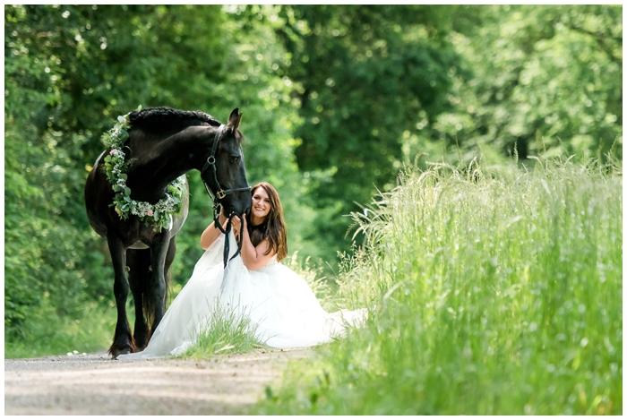 Hochzeitsfotos mit Pferd